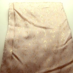 Apricot/Gold Patterned Loop Scarf